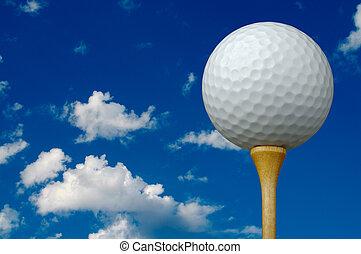 pelota, tee del golf, y