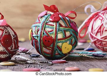 pelotas, hechaa mano, navidad