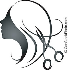 peluquería, womens, diseño, salo