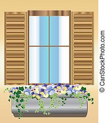 pensamiento, caja, ventana