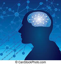 Pensamiento humano cerebral