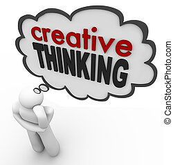 pensamiento, idea, creativo, pensamiento, persona, burbuja, idea genial