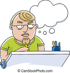 pensamiento, ilustrador
