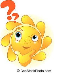pensamiento, lindo, verano, sol