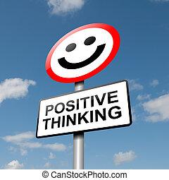 pensamiento, positivo, concept.
