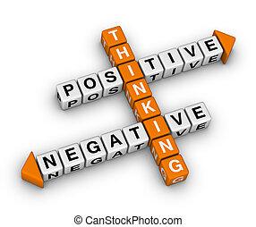 Pensamiento positivo y negativo