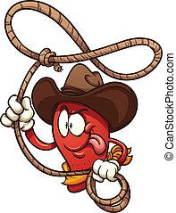 Pepper chile vaquero