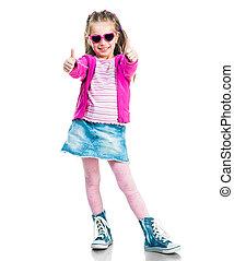 Pequeña chica de la moda