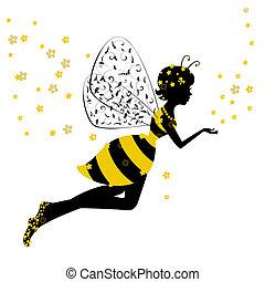 Pequeña hada de abejas