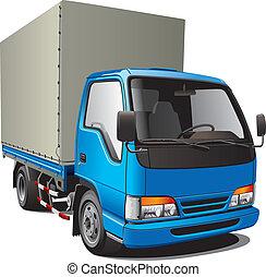 Pequeño camión azul