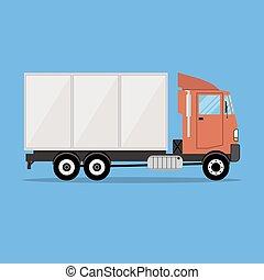 Pequeño camión de carga moderno para transporte