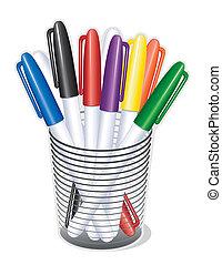 Pequeños bolígrafos