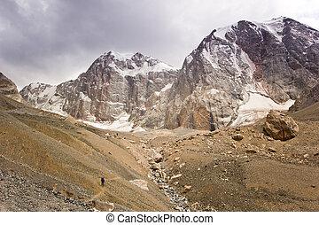 Pequeños humanos en las grandes montañas