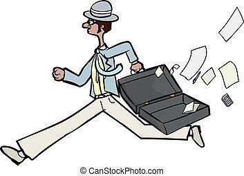 perder, hombre de negocios, papeles