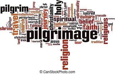 peregrinación, palabra, nube