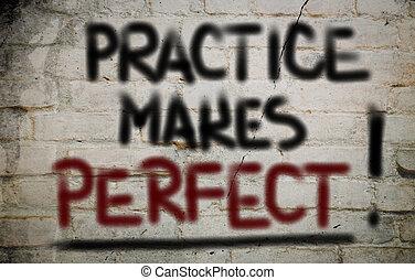 perfecto, práctica, concepto, marcas