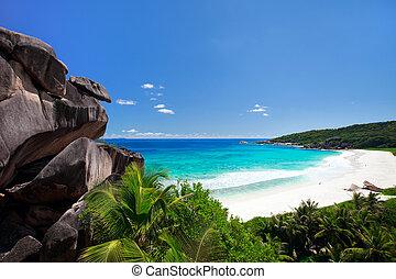 perfecto, seychelles, playa