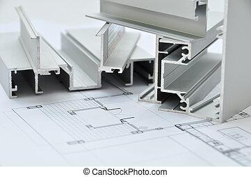 Perfil de aluminio con arquitecto
