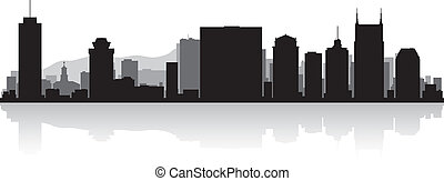 perfil de ciudad, nashville, silueta