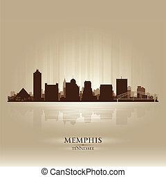 perfil de ciudad, tennessee, memphis, silueta