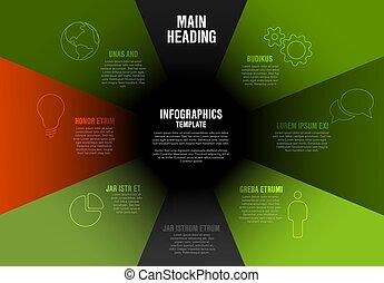 Perfil de perfil de la empresa de vectores plantilla de diagrama gráfico