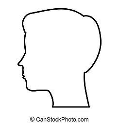 Perfil masculino silueta icono