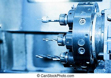 Perforación industrial de la CNC y cierre de máquinas aburridas.