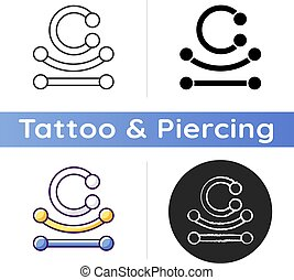 perforar, icono, joyas