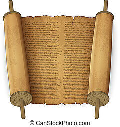 Pergaminos antiguos con texto