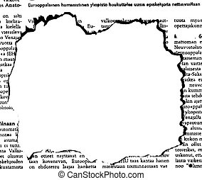 periódico, agujero, vector