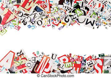periódicos, cartas, plano de fondo