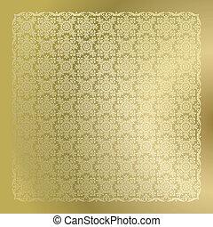 Periódicos de damasco dorados
