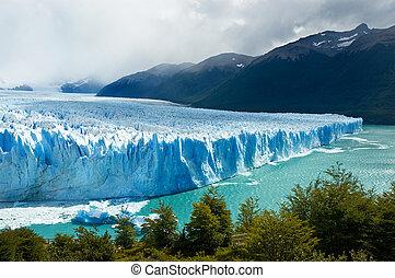 perito, glaciar, argentina., patagonia, moreno