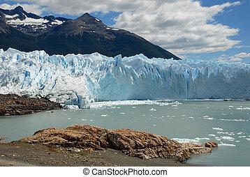 perito, patagonia, glaciar, moreno, argentina.