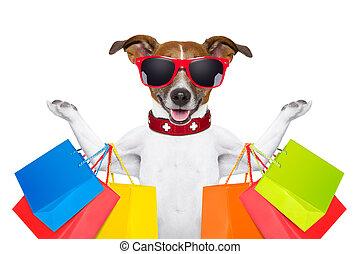 Perro de compras
