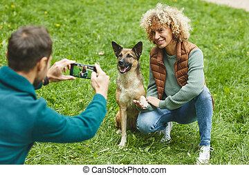 perro, foto, elaboración