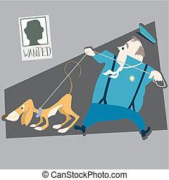 perro, policía