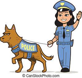 perro policía, k-9