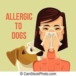 perros, alérgico