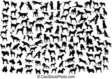 Perros siluetas