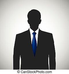 Persona desconocida con corbata azul