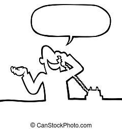 Persona llamando por teléfono