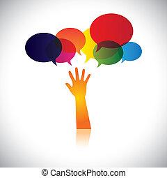 persona, también, concepto, angustia, ayuda, gente, esto, amor, resumen, buscar, vector, petición, etc, o, gráfico, ayuda, representa, cuidado, apoyo, soccour, assistance.