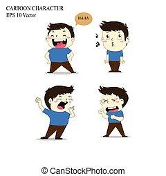 Personaje de dibujos animados. Aislado de fondo blanco