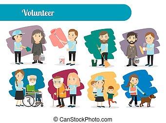Personajes voluntarios grandes