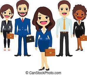 Personal del equipo de negocios