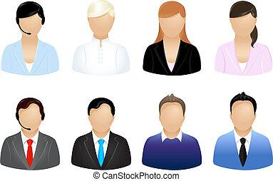 personas empresa, iconos