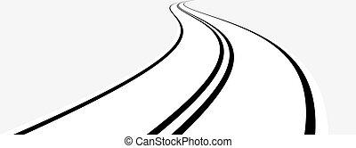 Perspectiva de la carretera curva