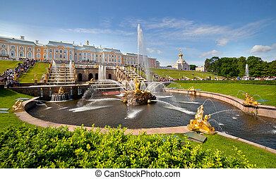pertergof, saint-petersburg, rusia