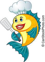 Pescado de cocina